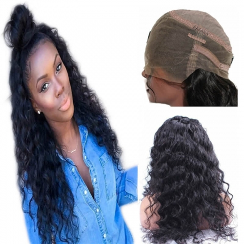 360 Lace Frontal Wigs 180% Density Loose Wave Curly Brazilian Remy Human Hair 360 Lace Wig Pre Plucked with Baby Hair 360 Lace Front Wigs for B