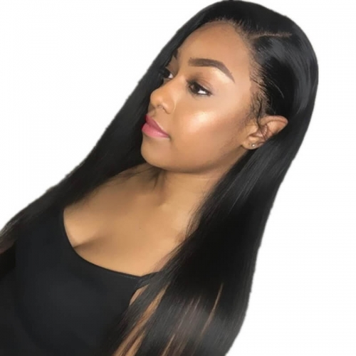 Silk Top Wigs Human Hair frican American Glueless Full Lace Wig Natural Black Silk Straight Peruvian Vigin Hair Pre Plucked Hair Line