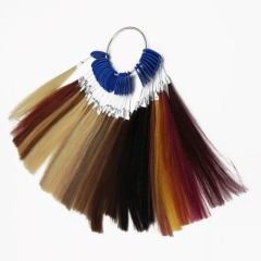 Free Shipping 100% Human Hair Color Ring Chart For Hair Products Or Salon