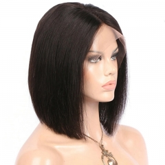 Middle Part Silky Straight Human Hair 13X6 Lace Front Wigs Natural Color Hidden Knots Pre Plucked