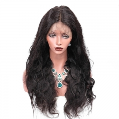 250% Density 13X6 Frontal Lace Front Human Hair Wig With Baby Hair Brazilian Hair Wigs Bleached Knots Pre Plucked Hair Line