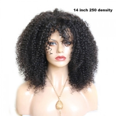 13x6 250% Density Brazilian Unprocessed Human Hair Lace Front Wig Afro Kinky Curly Wigs With Natural Baby Hair