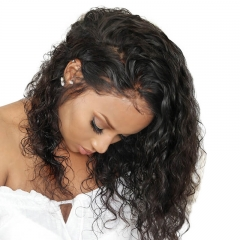 Fashion Curly Brazilian Hair 13x6 Lace Front Wigs Bleached Knots With Baby Natural Baby Hair Pre Plucked Hair Line