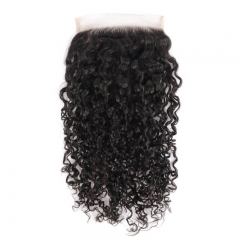Free Part Middle Part Three Part Water Wave Brazilian Hair Lace Top Closure Bleached Knots Natural Baby Hair Around