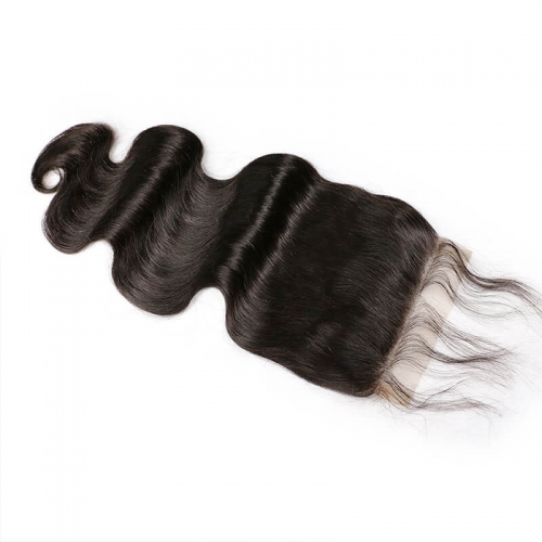 5x5 Body Wave Lace Closure Free Part Human Hair Natural Color Brazilian Remy Hair Closure Bleached Knots With Baby Hair Around