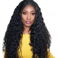 Full Lace Wigs On Sale Best Quality Water wave Hair 180% Density 100% Brazilian Human Hair Glueless Wig Natural Hair Line Hidden Knots Pre Plucked