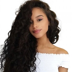Silk Top Full Lace Wigs Best Glueless Full Silk Base Wigs Water Wave 150% Density Brazilian Black Human Hair Wigs Natural Hair Line