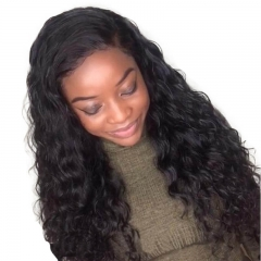 Water Wave 180% Density Brazilian Wigs Natural Hair Line black human hair wigs