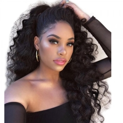 Silk Top Full Lace Wigs Inexpensive Silk Base Ponytail Wigs Loose Wave Pre-Plucked Natural Hair Line 130% Density Wigs No Shedding No Tangle