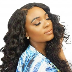Silk Top Full Lace Wigs 150% Density Wigs Brazilian Wigs Loose Wave Silk Base Ponytail Wigs Pre-Plucked Natural Hair Line