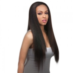 Glueless Silk Top Full Lace Wigs Affordable Human Natural Black Light Yaki Brazilian Virgin Hair Silk Base Human Hair Wigs