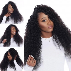Silk Top Full Lace Wigs Brazilian Silk Base Weave Ponytail Wigs Kinky Curly Wig Pre-Plucked Natural Hair Line 150% Density Wigs