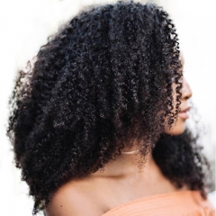 Afro Kinky Curly Hair Clip In Human Hair Extensions 4B 4C 100 Human Natural Hair Clip Ins Brazilian Remy Hair
