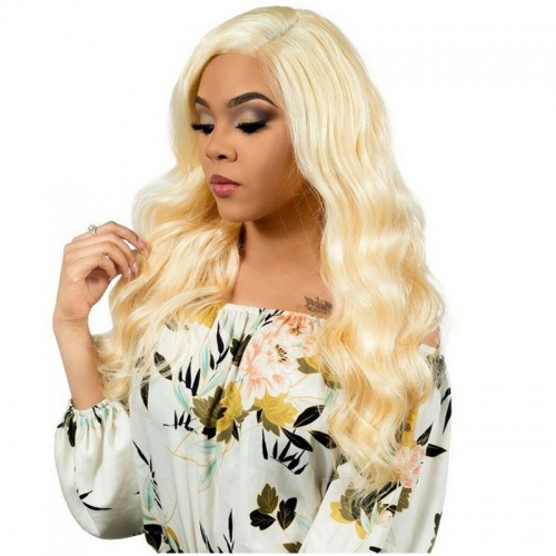 Color 613 Human Hair Lace Frontal Closure 13X6 With Baby Hair Bleached Knots