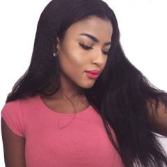Good Quality Full Lace Wigs Natural Color Malaysian Virgin Human Hair Kinky Straight Glueless Lace WIgs With Baby Hair For Black Women