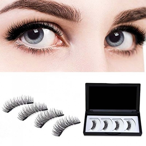False Eyelashes 3D Mink Fur Siberian Fur Fake Lashes Reusable for Makeup Natural Thick Black Color