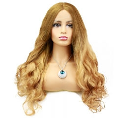Fashion Wavy ombre Color 4T27 Synthetic Lace Front Wigs For Women