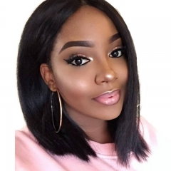 Straight Human Hair Lace Front Wigs Pre Plucked Hair Line With Natural Baby Hair Large Stock Fast Shipping