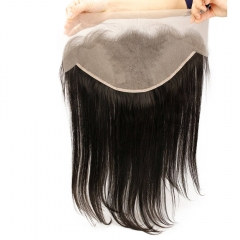 Silky Straight Transparent Lace Frontal Closure Swiss Lace 13x6 Lace Closures With Baby Hair Around