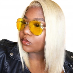Blonde Color 613 Human Hair 13x4 Lace Front Wigs Straight Brazilian Hair Wig Pre Plucked Natural Baby Hair Around