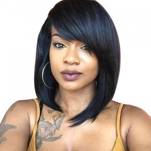 Transparent Lace Wig Where To Buy Human Hair Bob Wigs Silky Straight 130% Density Brazilian Hair Bleached Knots