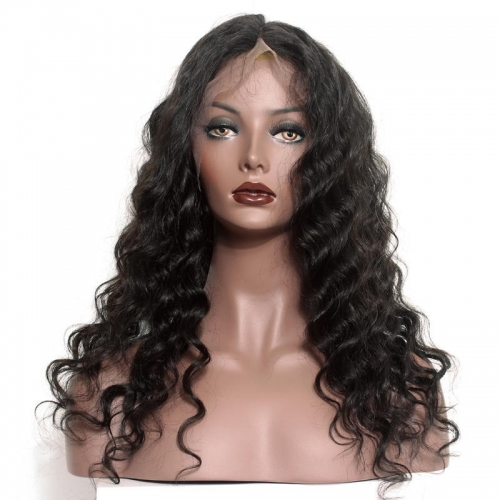 Natural HD Transparent Lace Front Wig Loose Wave Brazilian Human Hair Bleached Knots With Natural Baby Hair