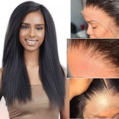 Affordable HD Undetectable Transparent Lace Front Wigs For Black Women Brazilian Yaki Wig With Baby Hair Indian Yaki Human Hair