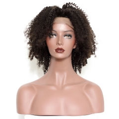 Real HD Transparent Lace Front Wig Afro Kinky Curly Human Hair Natural Black Wigs Brazilian Human Hair For Black Women