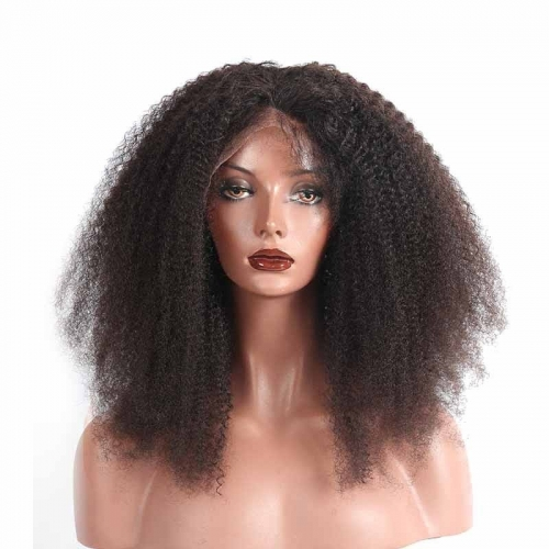 HD Transparent Lace Front Wig Human Hair Brazilian Afro Kinky Curly Natural Hair Line Wigs With Natural Baby Hair