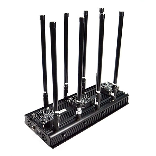 8 Band 125W Cellular Blocker Jammer, powerful Mobile Phone Jammer up to 150m