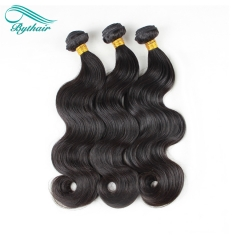 Bythairshop Human Hair Weaves Body Wave 3 Bundles For 1 Set Unprocessed Brazillian Peruvian Indian Malaysian Virgin Human Hair Hair Extensions