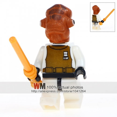 Single Sale Admiral Ackbar With Weapon Super Heroes Model Action Building Blocks Bricks Dolls Kids DIY Toys Hobbies Figures Gift