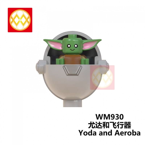 WM930 The Mandalorian Baby Yoda Weapon Light Sword Darth Vader Jedi Sword Weapon Action Figures Building Blocks Brick Educational Toys