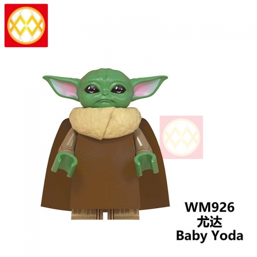 WM926 The Mandalorian Baby Yoda Weapon Light Sword Darth Vader Jedi Sword Weapon Action Figures Building Blocks Brick Educational Toys