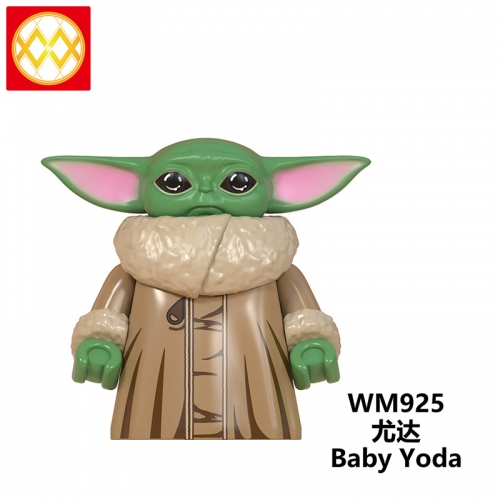 WM925 The Mandalorian Baby Yoda Weapon Light Sword Darth Vader Jedi Sword Weapon Action Figures Building Blocks Brick Educational Toys
