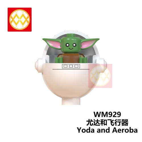 WM929 The Mandalorian Baby Yoda Weapon Light Sword Darth Vader Jedi Sword Weapon Action Figures Building Blocks Brick Educational Toys