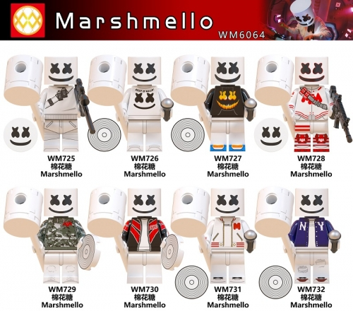 WM6064 Marshmello DJ Famous Singer  Building Blocks toys for Children