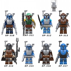 KT1041 Star wars The Mandalorian battle armor Boba Jango Vizsla Darksaber Vader  Building Block Toys