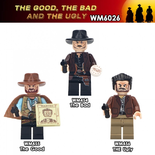 WM6026 West cowboy The Good The Bad and The Ugly  minifgures Building Block Toys