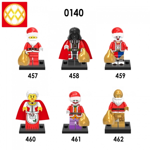 X0140 Santa Claus Darth Vader Harley Quinn Old Granny Joker C-3PO Action Figure Building Blocks Kids Educational Toys For Children Boys Bricks