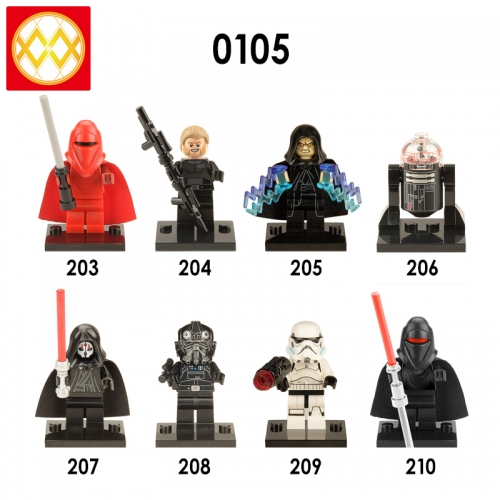 X0105 Star wars Darth Vader Palpatine Skywalker series Building blocks for children toys