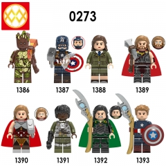 X0273 XH1393 Groot Steve Rogers Peggy Carter Thor Jane Foster Monica Rambeau Loki Captain America Building Blocks Bricks Toys For Children