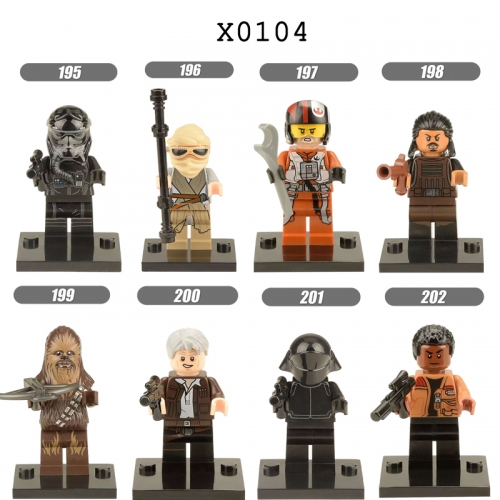 X0104  Starwars Tshubaka Lando Finn Han Solo Machine bucket Darth Vader  Leia Stormtrooper series Building blocks for children toys