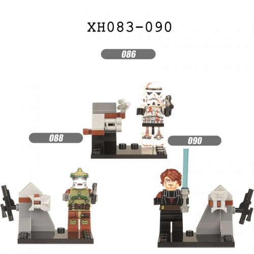 XH083-090 Starwars Machine bucket Darth Vader Anakin Skywalker Stormtrooper series Building blocks for children toys
