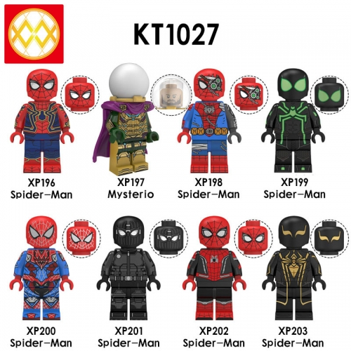 KT1027 Avengers Spider Man Mysterio Super Hero Assembled Building Block Figures Toys For Kids Children Gifts