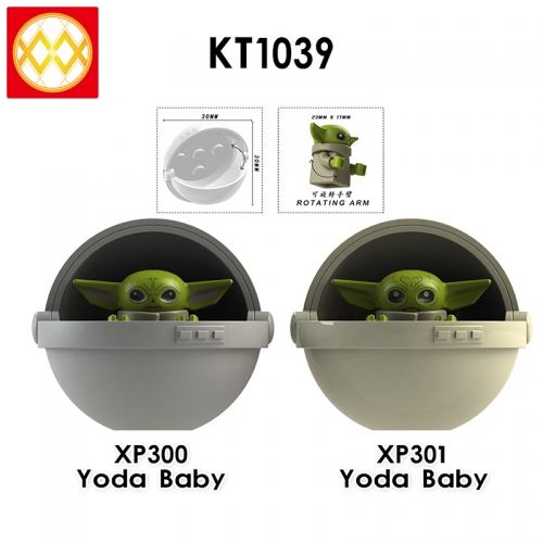 KT1039 Star War Baby Yoda Assembled Building Block Figures Toys For Kids Children Gifts
