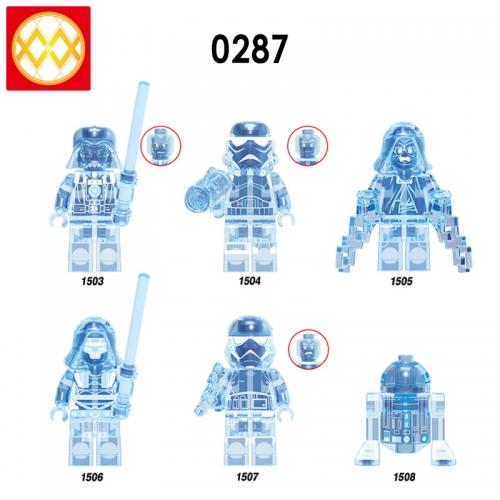 X0287 Star Wars Darth Vader Imperial Stormtrooper Emperor Palpatine Darth Revan R2-D2 Building Blocks Bricks Toys For Children