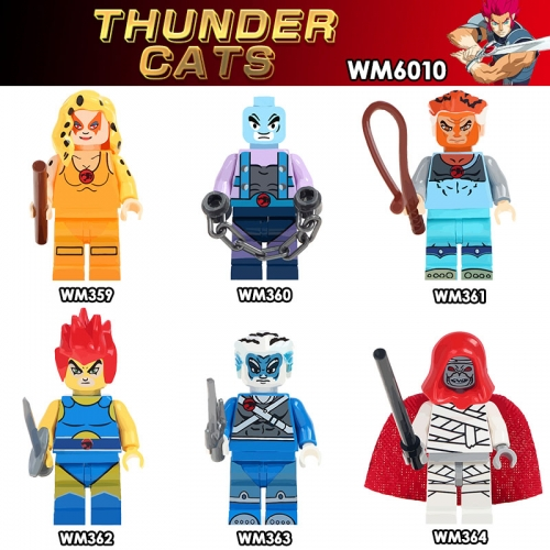 WM6010 Thunder Cat Lion-O、Tygra、Panthro、Cheetara Building Blocks toys