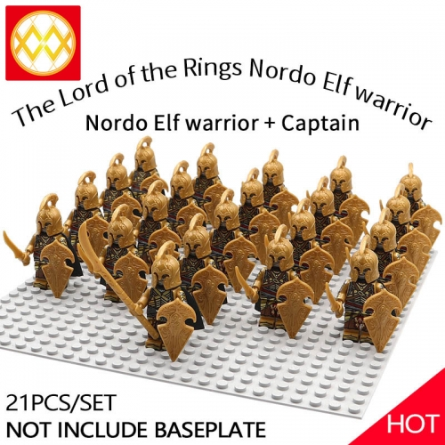 WM1255 21pcs/lot Game of Thrones Lord of the Rings The song of ice and fire Soldier brigade Building blocks for children's toys