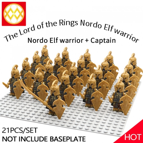 WM1258 21pcs/lot Game of Thrones Lord of the Rings The song of ice and fire Soldier brigade Building blocks for children's toys